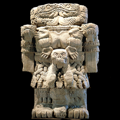 image of the stone statue of Cuahutlicue