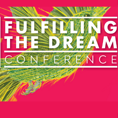 "Image of a hummingbird with words ""Fulfilling the Dream Conference"""